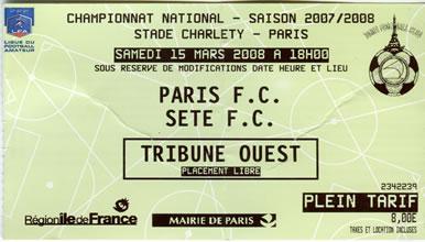 Paris FC - FC Sète