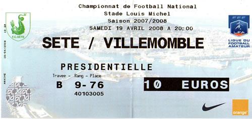 FC Sète - Villemomble sport