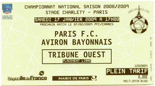 billet de match Paris Fc - Aviron bayonnais