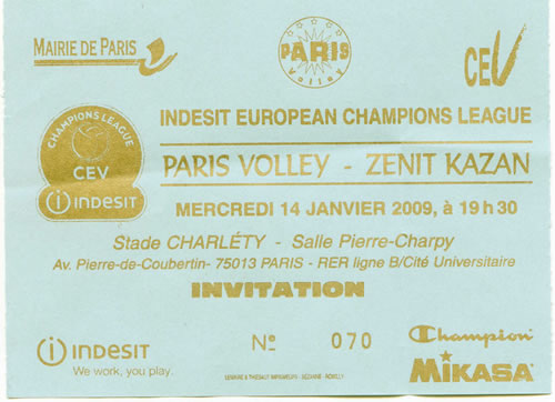 Paris volley - Zenit Kazan