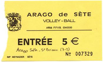 billet de match Arago de Sète - Saint Brieuc
