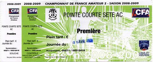 Billet Pointe Courte - FC Trelissac