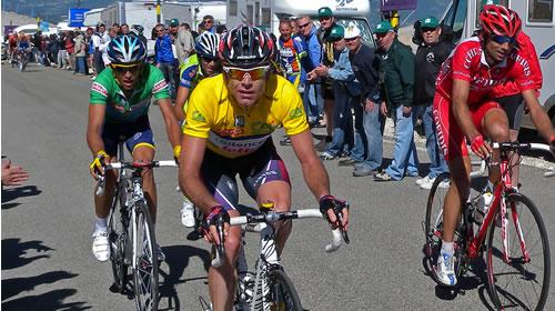 Contador, Evans Montcoutié Dauphiné Liberé 2009