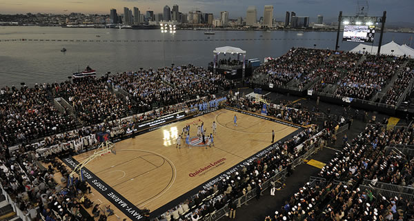 Road to march madness : le carrier classic à la démesure de la NCAA.
