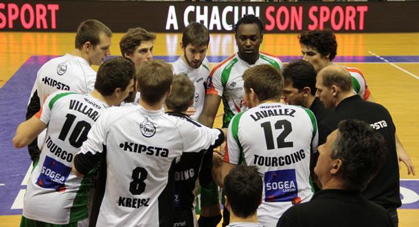 L'équipe du Tourcoing Lille Métropole Volley.