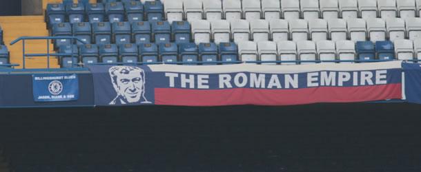 Banderole à la gloire de Roman Abramovitch, actuel propriétaire du club.