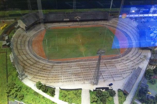 Maquette du stade dans les années 30.
