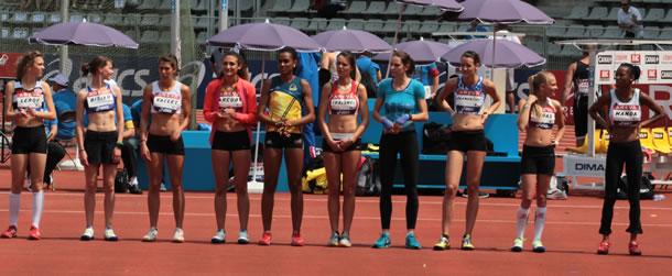 Les finalistes du championnat de France de hauteur féminine.