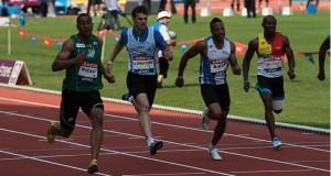 Finale du 100m aux championnats de France.