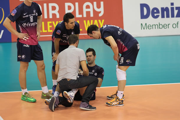 Goran Maric à terre et c'est tout le Paris Volley qui est touché.