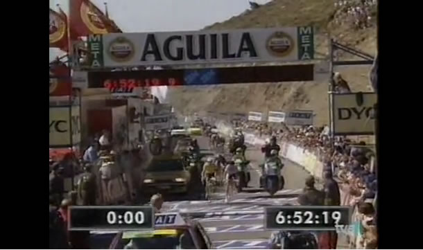 Laurent Jalabert dans la Vuelta 1995.