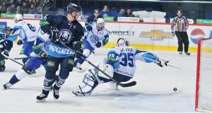 Rencontre entre Medveščak (Croatie) et le Dinamo de Minsk (Bielorrussie) (crédit photo KHLhr)
