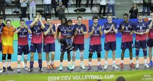 Le Paris Volley vainqueur de la coupe de la CEV 2014.