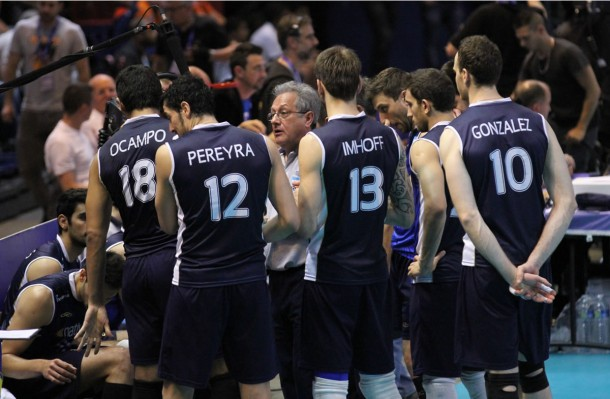 La sélection argentine de volley-ball.