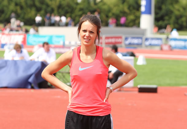 Chloé Traisnel qui s'entraîne avec le pôle haut niveau de Lille