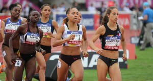 Finale du 800m féminin et premier titre pour la prometteuse Renelle Lamote.