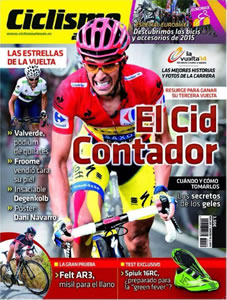 "La une du célèbre magazine espagnol ""Ciclismo a fondo"""