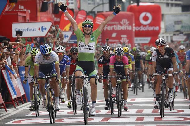 John Degenkolb lors d'une de ses victoires d'étape sur la Vuelta 2014.