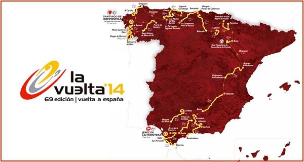 Le parcours de la Vuelta 2014.