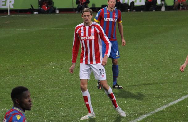 Peter Crouch l'avant centre de Stoke City.