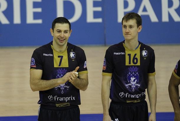 Nikola Gjorgiev (N°7) et Dimitri Bahov (n°16)