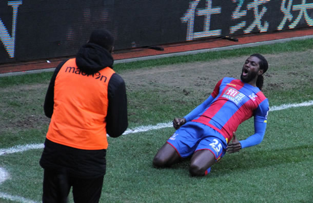 Premier but d'Emmanuel Adebayor sous les couleurs de Crystal Palace.